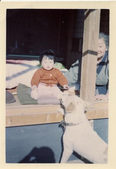 grandmom&dog