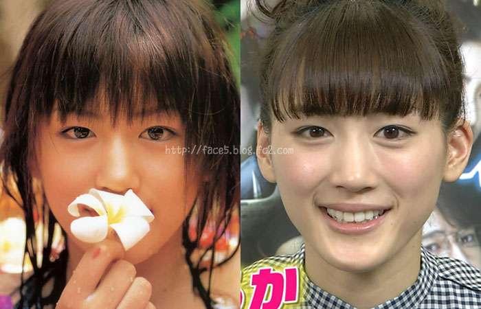 10代と20代、の綾瀬はるかの顔の比較