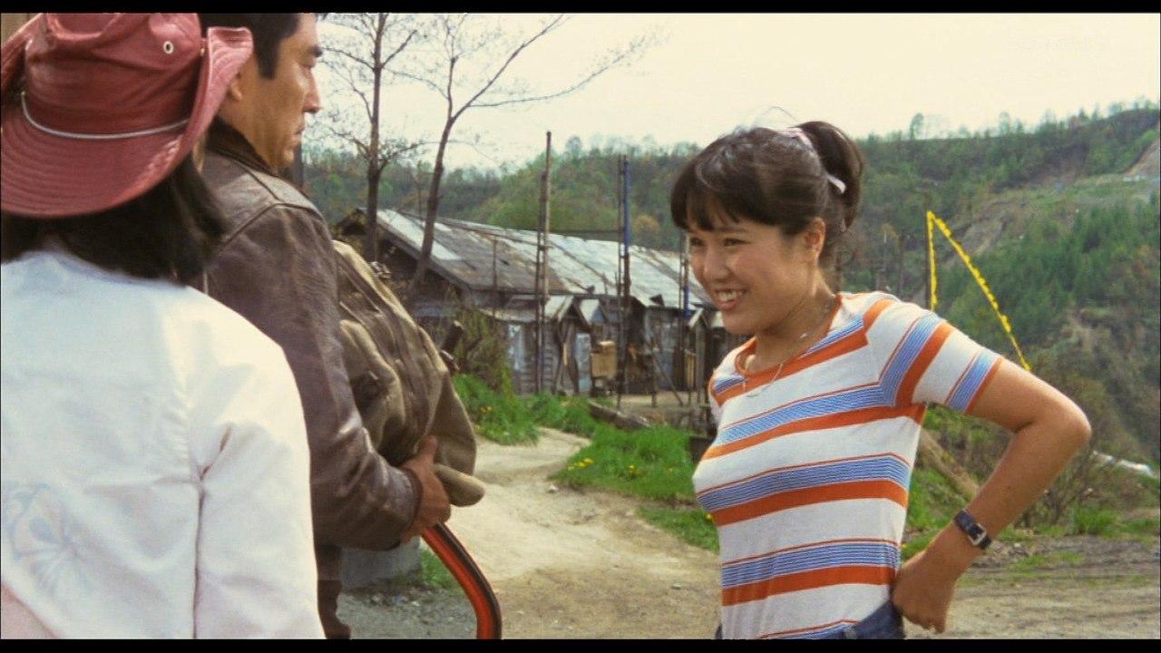 映画「幸せの黄色いハンカチ」、桃井かおりの胸