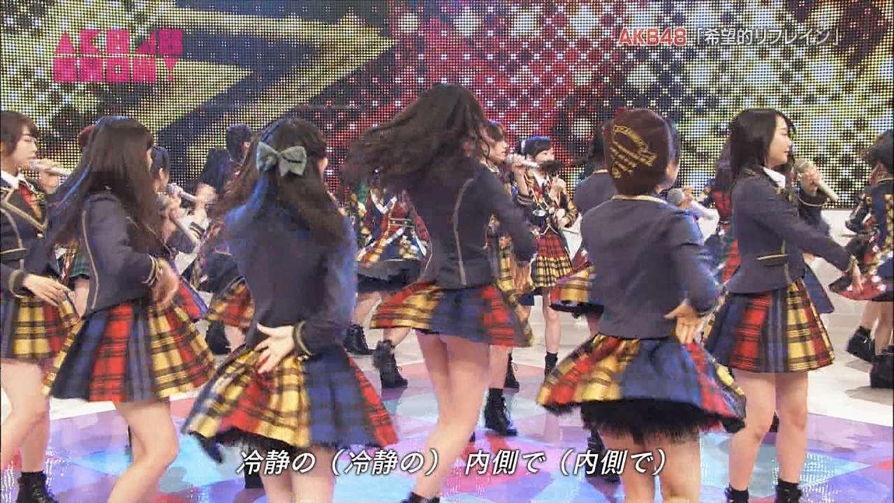 NHKで「希望的リフレイン」を歌うHKT48・森保まどかが生尻ポロリ