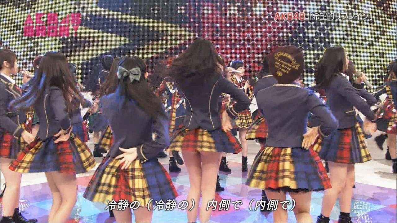 NHKのAKB48SHOWでHKT48・森保まどかがパンチラ、生尻ポロリ