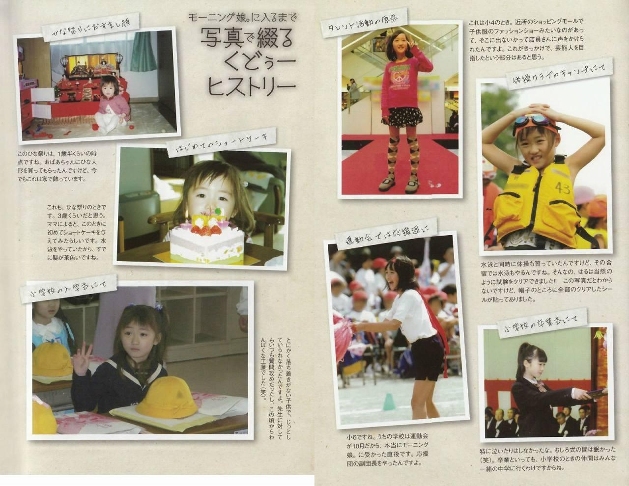 モーニング娘。'14・工藤遥の幼少期から小学校卒業までの画像
