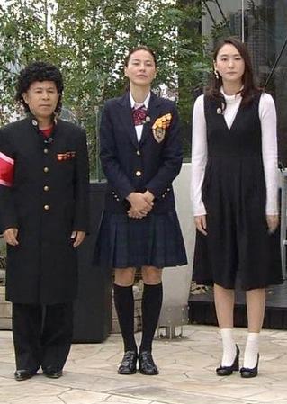 「ぐるナイ ゴチになります」に出演して並んで立った江角マキコと新垣結衣