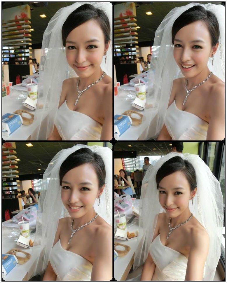 ウェディングドレス姿の台湾モデルAriel Chiang(アリエル・チャン)