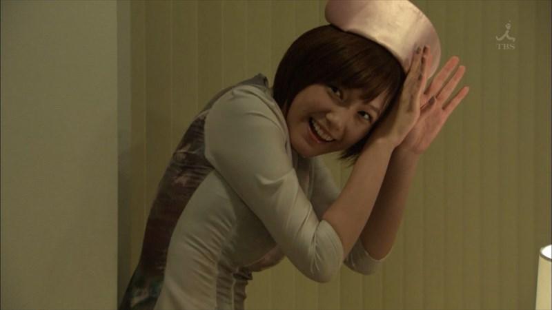 ドラマ「安堂ロイド」でサプリを演じる本田翼の胸