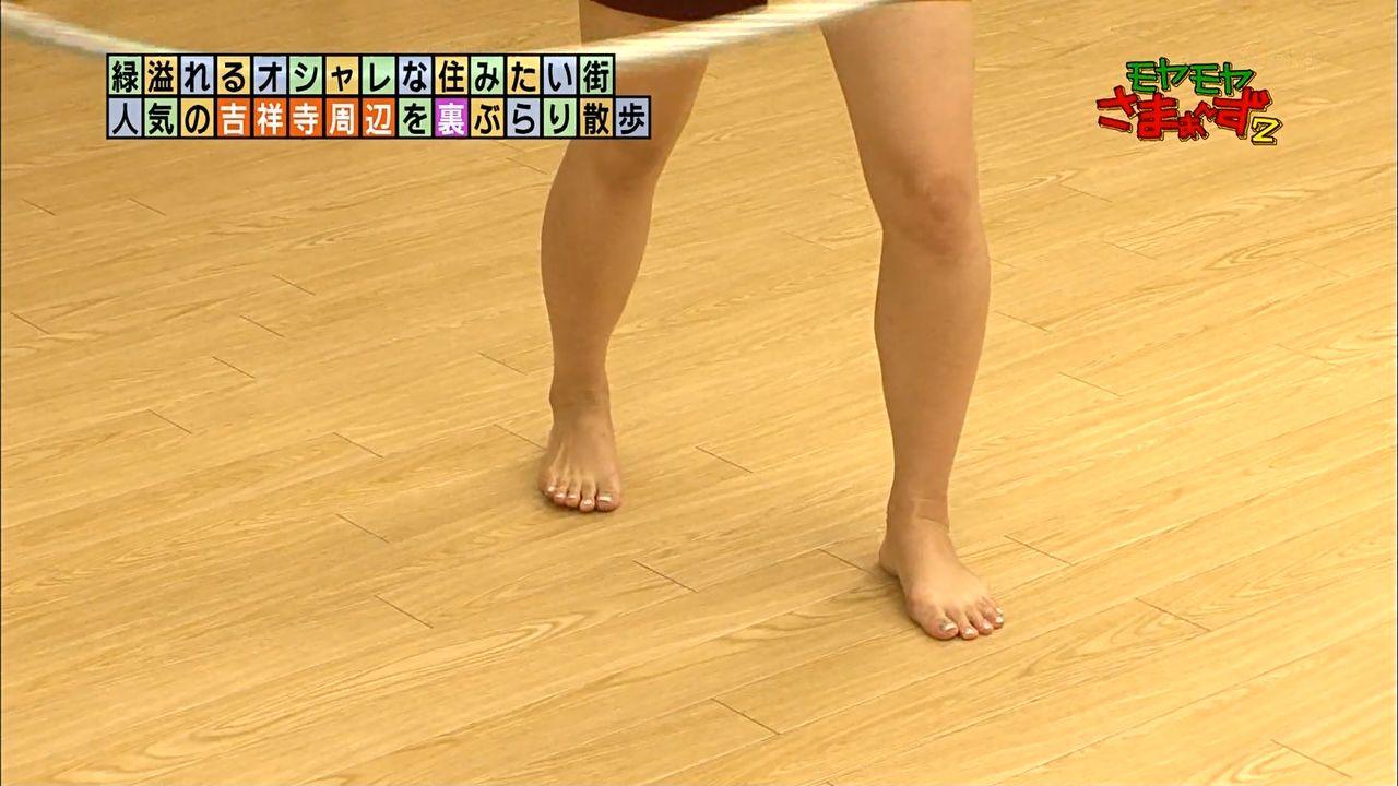 狩野恵里アナのたくまし過ぎる脚