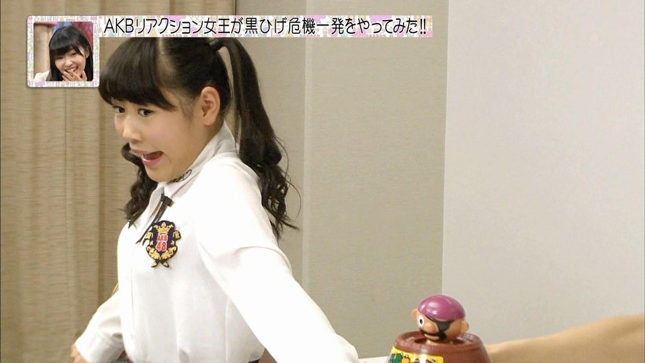「※AKB調べ」のAKBリアクション女王決定戦で黒ひげ危機一髪をする西野未姫