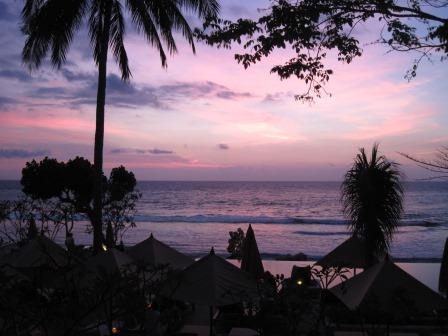 ロンボク島の夕べ