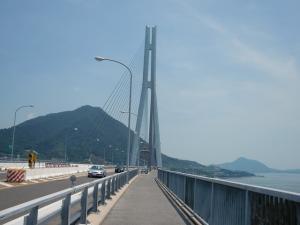 多々羅大橋を渡ります