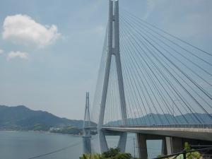 多々羅大橋を渡りきって