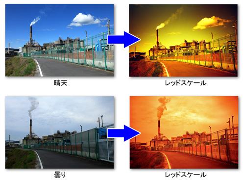 晴天と曇天の比較2