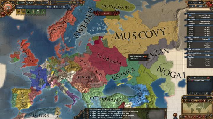1483年のヨーロッパ