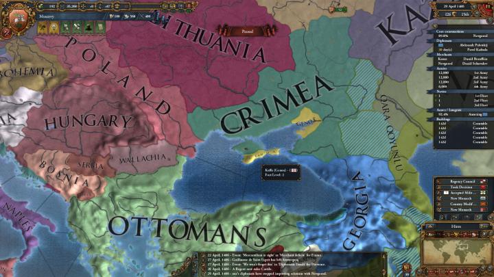 1486年、戦争が続くクリミア・ハン国と黒羊朝