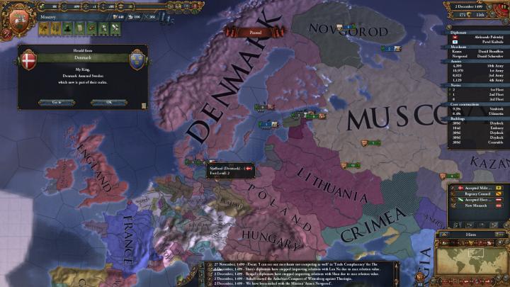 1499年、大デンマーク成立