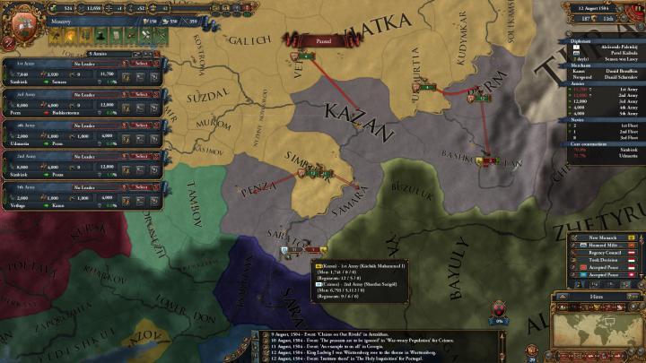 1504年、第2次カザン・ハン国遠征
