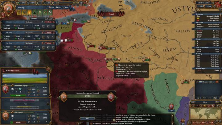 1513年、第2次リトアニア戦争の勃発