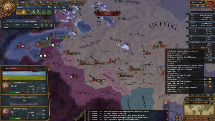 第2次リトアニア戦争の推移(1514年)
