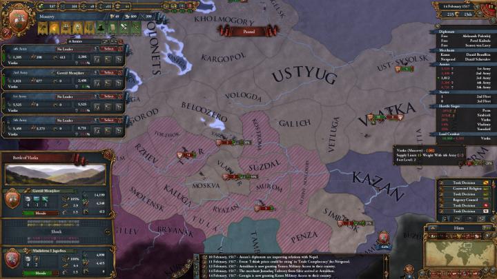 第2次リトアニア戦争の推移(1517年)