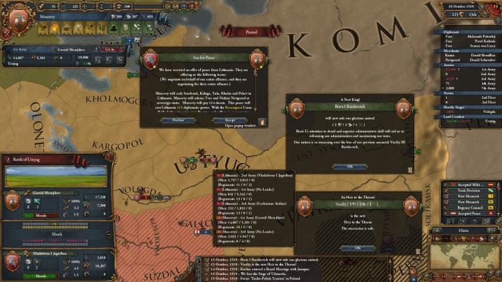 1519年、大公の死とリトアニアの要求