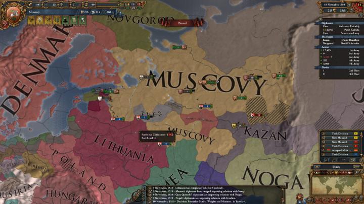 1519年11月、敗戦により国土の多くを失ったモスクワ大公国