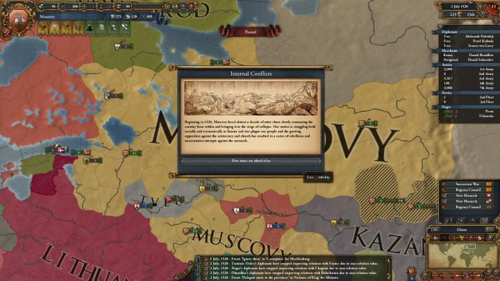 1520年、内戦の勃発