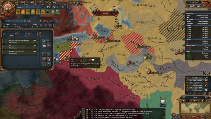 1526年、リヴォニア戦争。好転した戦局