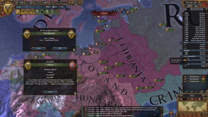 1560年12月、ロシアの単独講和