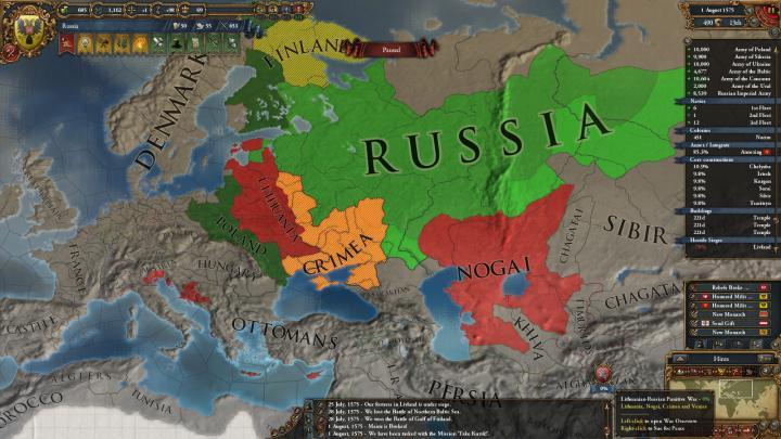 1575年、第4次リトアニア戦争