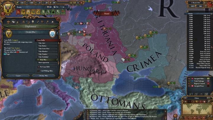 1613年3月、露土戦争の始まり