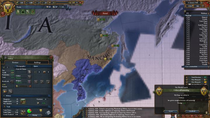 1628年、太平洋への到達