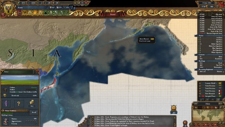 1654年、アラスカ入植の始まり