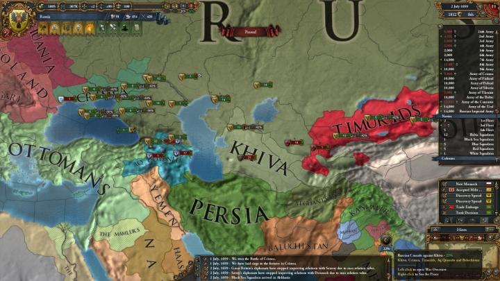 1659年7月、対露包囲網との戦い(クリミア・ヒヴァ戦争)