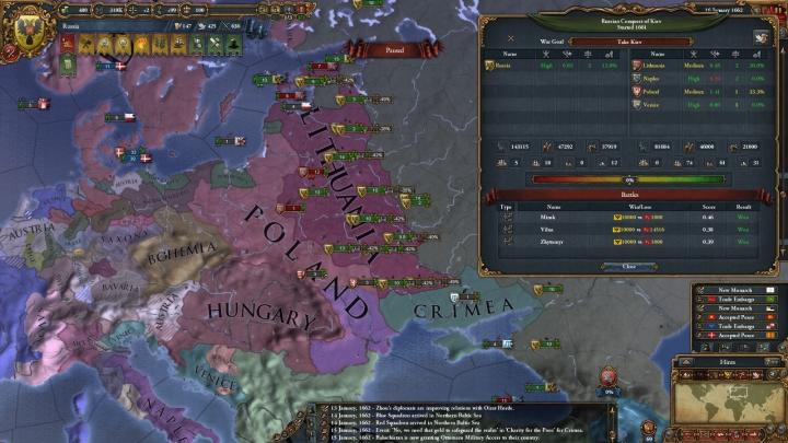 1662年1月、第6次リトアニア戦争