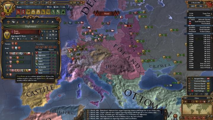 1664年3月、対露大包囲網の結成