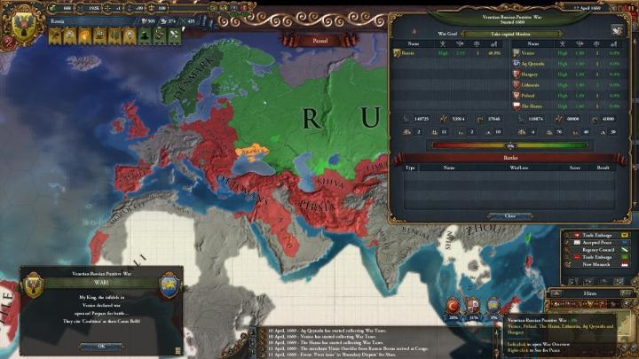 1669年4月、戦争のさらなる拡大