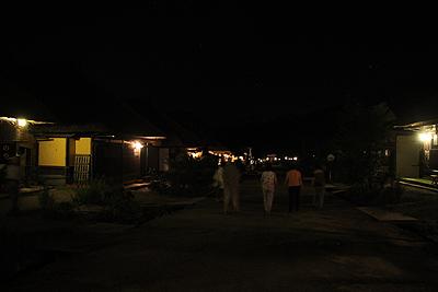 夜の大内宿0904