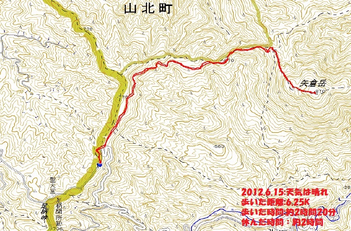 矢倉岳地図
