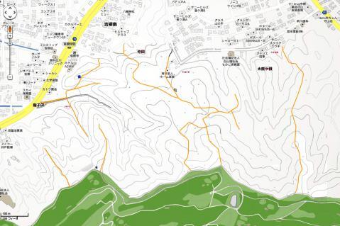 google-住宅地図-山道着色