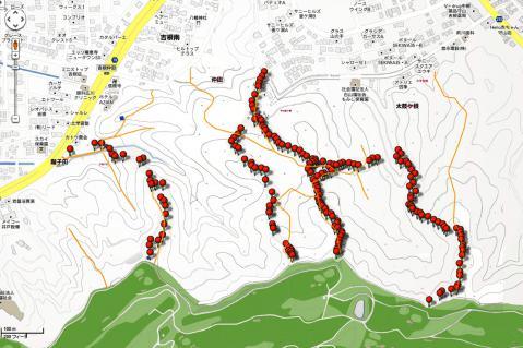 google-住宅地図-山道-ルート