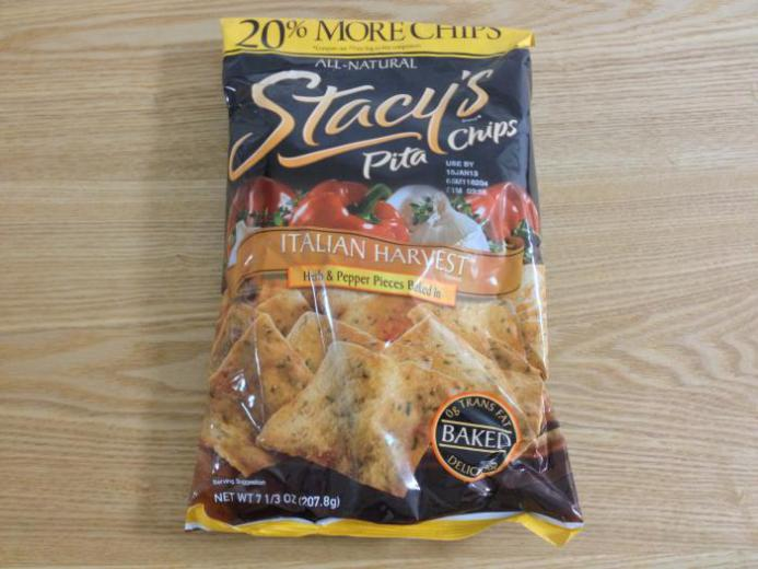 Stacy's, Pita Chips, Italian Harvest Flavored