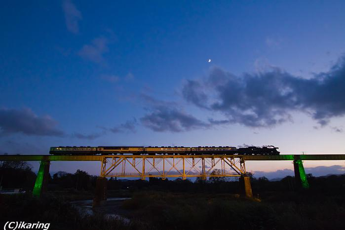 磐越西線 C57 ライトアップ