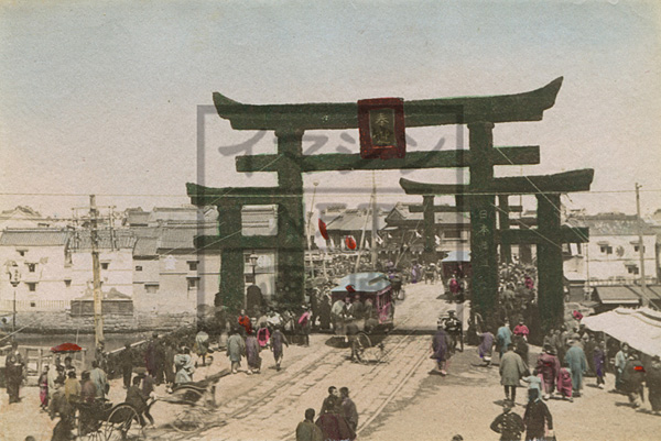 明治日本橋鉄道馬車古写真