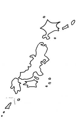 日本逆さまに描いてみた上下