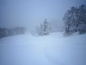 黒岳スキー場 リフト降り場付近