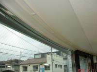 カーブの出窓