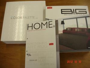 スミノエ HOME ラグ・マットカタログ、カーペット「カラーパレット見本帳Vol.2」、HOME ビッグサイズラグ