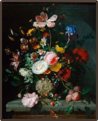 ヤーコプ:「石の花瓶に生けた花と果物」