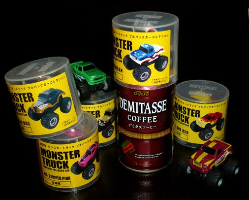 ダイドーブレンド デミタスコーヒー モンスタートラック プルバックカーコレクション