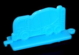 コリス フエラムネのおまけ ミキサー車スタンプ(青)