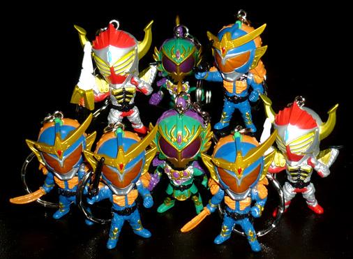 バンプレスト 仮面ライダー鎧武 フィギュアキーホルダー